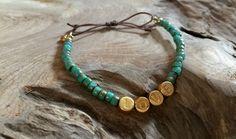 """Armbänder - Perlen Armband türkis gold """"LOVE"""" - ein Designerstück von saniLou bei DaWanda"""