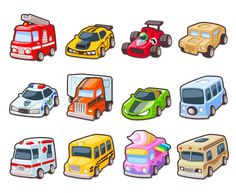 Tiny cars icons