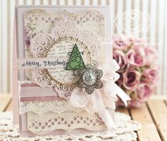 Christmas Card Making Ideas by Becca Feeken using Quietfire Design Merry Christmas Plain and Simple and Spellbinders Victorian Medallion One - www.amazingpapergrace.com