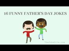 16 Funny Fathers Day Jokes - YouTube - TheJokeSite.com Discover more funny jokes and puns for the whole family! Cute Jokes, Funny Jokes, Fathers Day Jokes, Puns, More Fun, Super Cute, Family Guy, Youtube, Fictional Characters
