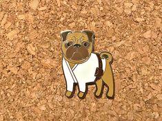 Luke Skywalker Pug Wars Star Wars cute enamel pin
