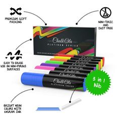 Neon Color Chalk Markers with Jumbo Nib - Pack of 8 – Chalkola Art Supply Window Markers, Chalk Ink, Chalk Markers, Coffee Design, Neon Colors, How To Stay Healthy, Packing, Lettering, Chalkboards