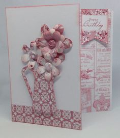 Created using Toile collection with templates and die cut flowers, design by Julie Hickey Craftwork Cards, Cut Flowers, Hobbies And Crafts, Handmade Cards, Card Making, Greeting Cards, Collections, Templates, Create