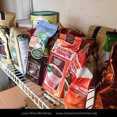 Photo of the Day - In November, we used 15 pounds of coffee. Thanks to everyone who has replenished our pantry with lots of coffee in the last week!