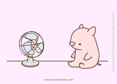 PIG WITH A FAN