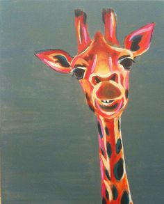 #Steps to #painting a #giraffe with #acrylic