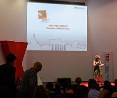 TEDxTransmedia ROME 2012 - Anna Mattirolo - Director of Maxxi Arte - Shot by @LisaLemee