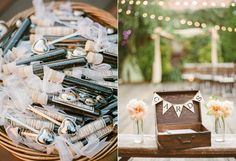 wedding favors - photo by Rebecca Yale Photography http://ruffledblog.com/intimate-and-personal-wedding-at-mymoon