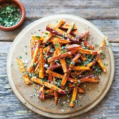 Sweet Potato Fries with Garlic and Herbs