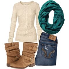 Winter outfit. The hard part is finding a sweater that's long enough for me.