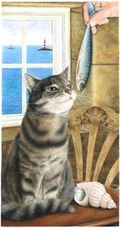 Anne Mortimer Lighthouse Cat