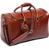 Tuscany Leather TL Voyager - Travel leather duffle bag - Large size Honey: Amazon.de: Luggage