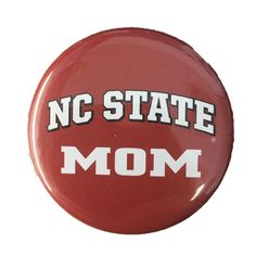 NC State Wolfpack Red Mom Button