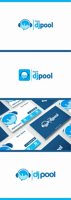 This logo for digital djpool.  Logo and business card design by me.