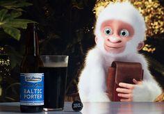 Winter Gorilla Baltic Porter (Sori Brewing - Estonie) -  Calendrier de l'avent Saveur-Biere.com #BeeryChristmas  Snowflake, le gorille blanc