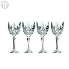 Set of 4 Marquis By Waterford Markham Wine Glasses - Beautifully Designed Short Stem Wine Glasses, Premium Crystal, Red and White Wine, 12 Ounces (*Amazon Partner-Link)