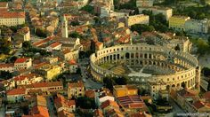 Explore the city of Pula with official tourism portal of Istria which will help you find all precious locations, cultural heritage and rich gastronomical offer. It doesn't matter what you choose to do, great fun is guaranteed to all visitors of Pula. Pula, Istria Croatia, Photo Maps, Croatia Travel, Visit Croatia, Travel Europe, Travel Destinations, Ultimate Travel, Montenegro