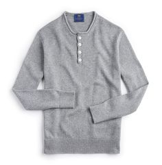 Inis Meáin Currach Henley in City Grey | Private White V.C.
