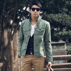 Fashion Winter Autumn Casual Mens Cotton Jacket Coat Work Overalls