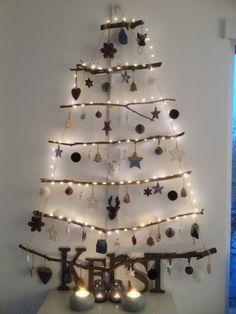Onze hangende kerstboom