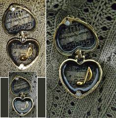 Antique Bronze Heart Box Locket With Music by EmeraldGreenEyeCat