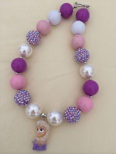 Princess Elsa Bubblegum Bead Necklace by CraftyCreationsByLB, $16.00