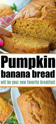 Banana Pumkin Bread, Healthy Pumpkin Bread, Healthy Banana Bread, Chocolate Chip Banana Bread, Easy Bread Recipes, Banana Bread Recipes, Pumpkin Recipes, Overripe Banana Recipes, Recipes With Bananas