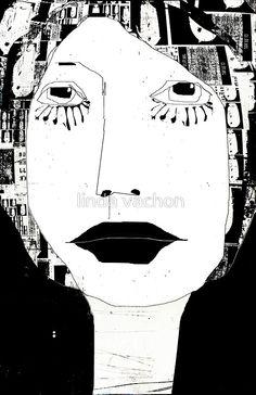 « portrait en noir et blanc »