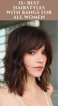 Find out the latest and trendy hairstyles and haircuts for women in 2020. Check out ... Cute Medium Length Hairstyles, Bangs With Medium Hair, Bob Hairstyles For Fine Hair, Long Bob Haircuts, Medium Hair Cuts, Medium Hair Styles, Short Hair Styles, Hairstyles Haircuts, Haircut Medium