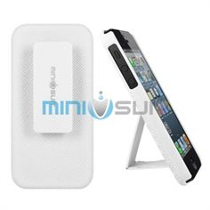 Slip your new Apple iPhone 5 into this amazing MiniSuit Clipster Case   Built In Stand   Removable Belt Clip and be instantly smart, stylish, and sleek while giving ultimate protection to your new mobile phone. Inside, this robust case is removable