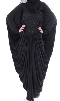 Luxury Black Butterfly Abaya Dress. Casual Full by ShopIslam
