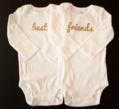 Girls' Homemade Best Friends Long Sleeve Onesie by CraftyByJenn, $24.99