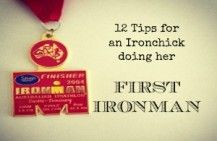 tips for a first Ironman - great tips! Although he's on his third Ironman never hurts to relook at some helpful ideas.