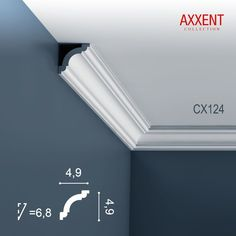 Corniche Moulure Cimaise Décoration de stuc Orac Decor CX124 AXXENT Profil décoratif du mur | 2 m - AXXENT | CX124 - Revêtement sol et mur