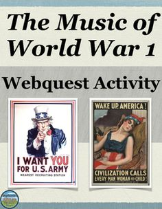 FREE!! Students examine the events of WW1 and different perspectives of said events by working with up to 18 songs. Students read the titles of songs and predict what the topic/message, point of view, and emotions of the song are, as well as when during the war the song came out. They then look up the lyrics to the songs or listen to the lyrics (10 websites provided) to see how accurate their predictions were, and lastly they answer 4 questions. This is appropriate for US or World History.