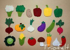 Felt play set felt garden felt veggies felt vegetables