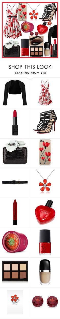 """""""Untitled #328"""" by becca-h-c on Polyvore featuring Paule Ka, NARS Cosmetics, Christian Louboutin, Nancy Gonzalez, Casetify, Lauren Ralph Lauren, Del Gatto, NYX, Victoria's Secret and Anastasia Beverly Hills"""