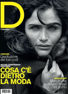 D La Repubblica No.870 | Helena Christensen by Peter Lindbergh