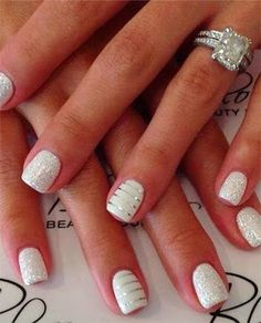 Fashion For Women: White silver nail polish