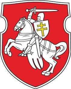 Pahonia coat of arms of Belarus in 1991–1995