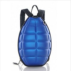New Fashion Women Men Turtle Shell Style Backpack Hand Grenade Bomb Shoulder Bag Blue -- Check out this great product. (This is an affiliate link and I receive a commission for the sales)