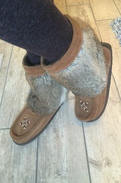 My new winter boots.  Manitobah Mukluks!  Mine are chocolate and these ones are oak.