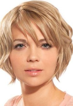 Wavy Hairstyles: Haircuts For Round Faces Thick Wavy Hair, thick ...