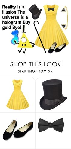"""""""Bill Cipher"""" by haikyuu-10 on Polyvore featuring Scala and Versace 19•69"""