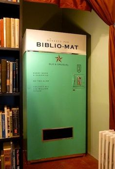 Brilliant idea. A vending machine in Toronto that sells random books for two dollars each.