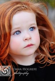 Please God let me marry a man with blue eyes and red hair so our little girl can look this cute! She is beautiful!