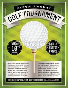 Celebrity Golf Classic Flyer Template  Fonts Charity Children