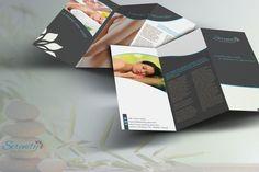 Serenity Spa - Trifold Brochure by Spyros Thalassinos on @creativemarket