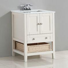 """Simpli Home Cape Cod 25"""" Single Bathroom Vanity Set"""