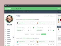 Early exploration on the trades overview page.   Created with the Focus Lab team